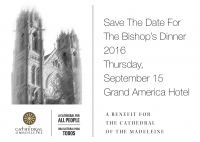Save the Date - The 2016 Bishop's Dinner