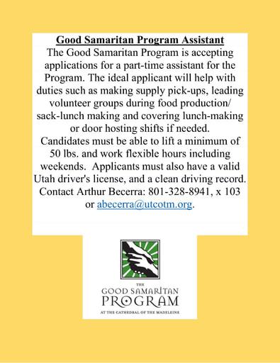 Good Samaritan Program Assistant