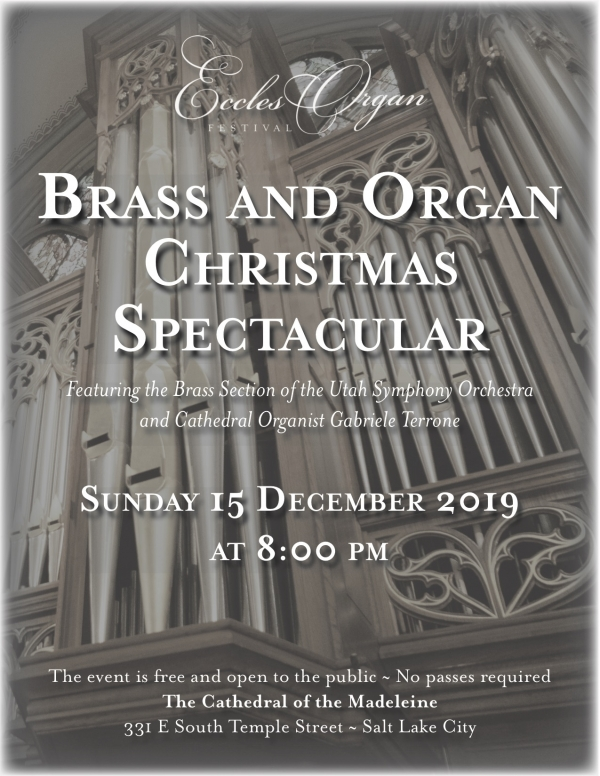Brass and Organ Christmas Concert Sunday, 15 December.  8:00pm